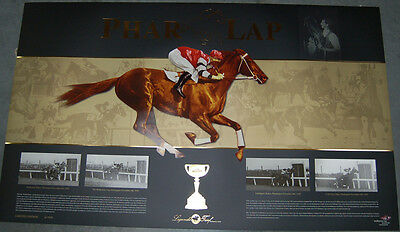 Phar Lap Limited Edition Melbourne Cup Vrc Print Winx Black Caviar Makybe Diva