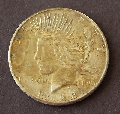 Toned 1928 S Peace Dollar