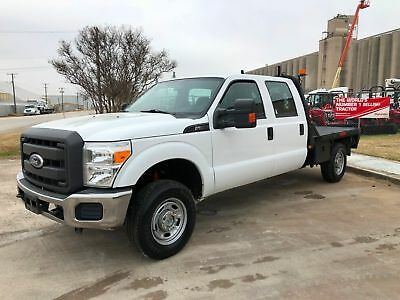 Ford Super Duty F250 4X4 Crew Cab Flatbed 4 Door Clean Title No Issues 2011 2012