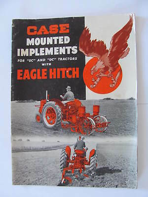 Case RC DC Mounted Implements Eagle Hitch Catalog Brochure 31 pages