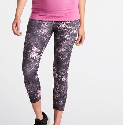 NWOT S Lucy Maternity Low Slung Shine Strong Long Beyond Yoga Leggings in Pink
