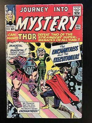 JOURNEY INTO MYSTERY #103 1st App Enchantress and Executioner! VG- (1964)