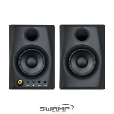 "Pair of Monkey Banana Gibbon Air Bluetooth Active 4"" Studio Monitors - Black"