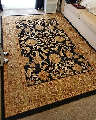 Rug, yellow-cream and black, very good condition