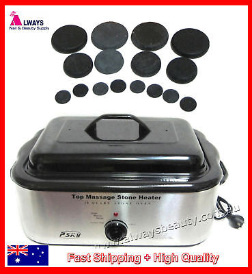 Hot Stone Heater Ex Large 18Q + Free Hot Stones For Spa Massage Aussie seller