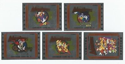 1993 Australian Disney Adventures set of 5 Chromium chase insert cards