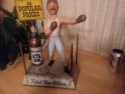 Pabst Blue Ribbon Metal Boxer Back Bar Beer Advertising Display.