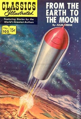 Classics Illustrated 105 From the Earth to the Moon #1 1953 VG- 3.5 Stock Image