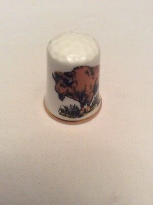 Vintage  South Dakota Porcelain Thimble