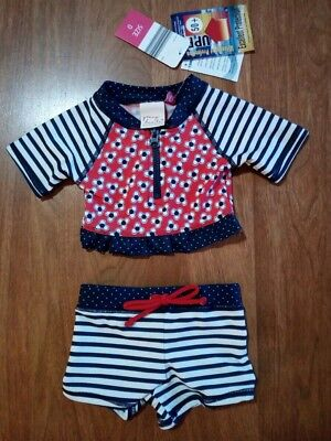 COLLETTE DINNIGAN Young Hearts baby girl size 0 swimmers bathers 2 piece BNWT