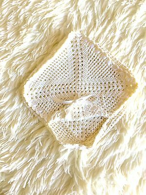 Crochet Servilletero Ganchillo Nuevo New Vintage Napkin Holder Keeps Napkins