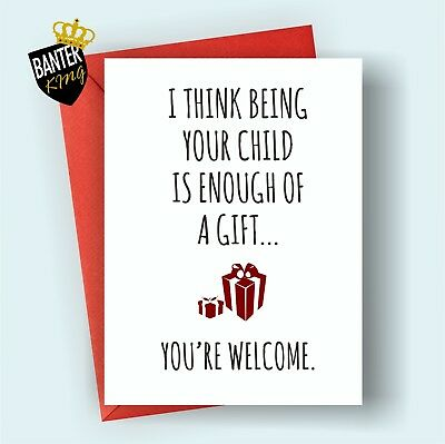 M9 Happy Birthday Greetings Card Mum Dad Funny Cheeky Mothers