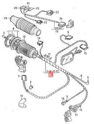 Genuine Vw Wiring Set For Door Nos Seat Vw Cordoba Vario Ibiza St