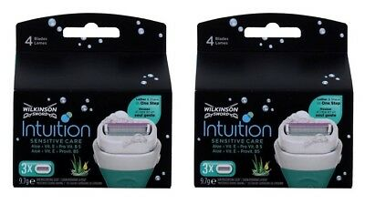 Wilkinson Sword Intuition Sensitive Care Razor Blade Refills, 6 Blades