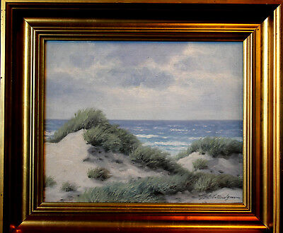 Karl Emil Lundgreen Sylt nothsea Oil Canvas seascape topographic