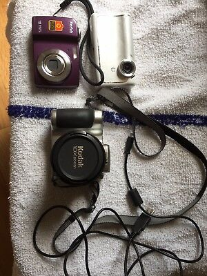 2 Working Kodak  Cameras And Flipcam For Parts
