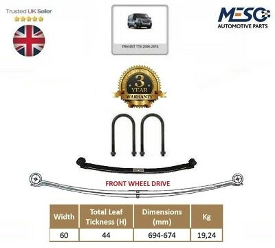 O.e. Rear Double ( 2 ) Leaf Spring  For Ford Transit Mk7 2006-2014 Fwd 60Mm