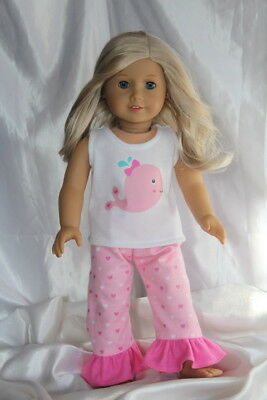 Doll Clothes fits 18inch American Girl Dress Pajamas Pink Hearts Lot