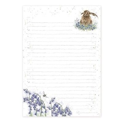 Bright Eyes Hare A5 Jotter Pad - 52 Lined Sheets by Hannah Dale Wrendale Designs