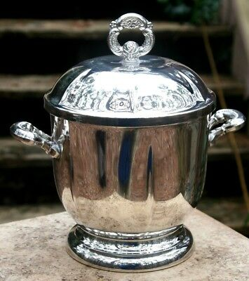 Oneida Silverplate Ice Bucket with Insert