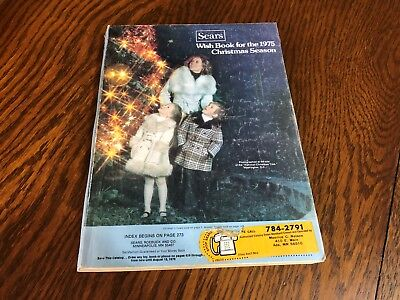 1975 Sears Wish Book Christmas Season Magazine Catalog Nice Vintage