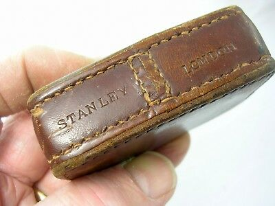 "Vintage Stanley Paper Weight? Leather Marked KCC, Weight 1lb 11oz  Approx 3"" x2"""