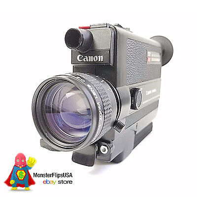 CANON 310XL Super 8 Camera Fully Serviced by MonsterFlipsUSA Small Lens Scratch