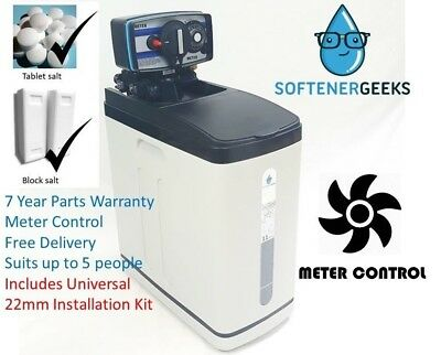 Softenergeeks Super Compact Meter control water softener with 22mm Universal kit