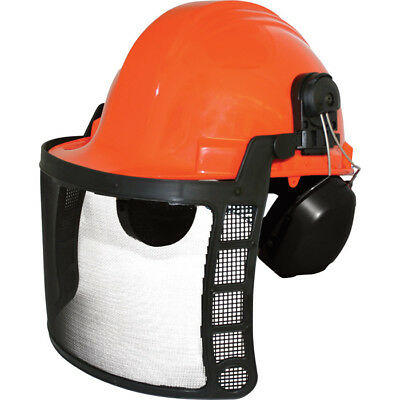Forrester Chainsaw Protective Safety Helmet with Ear Muffs and Screen