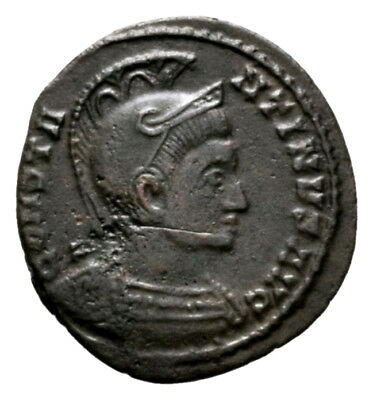CONSTANTINE THE GREAT (322 AD) Scarce Barbaric Follis. Trier #RA 10446