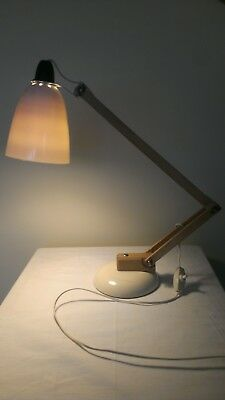 Early production vintage Maclamp Habitat Conran wooden anglepoise articulated