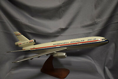McDonnell Douglas DC-10 Prototype Desk Model BIG - VINTAGE - RARE