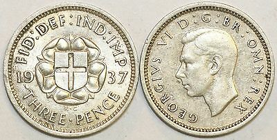 1937 to 1941 George VI Silver Threepence Your Choice of Date