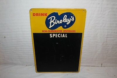 "Vintage 1952 Bireley's Orange Soda Pop Restaurant Menu 19"" Embossed Metal Sign"