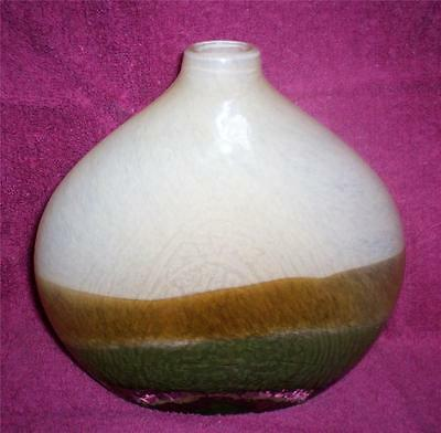 Art Glass Vase Studio Handcrafted Cased