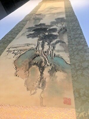 Antique Japanese Scroll Edo Period Nanga [Bunjinga] School Painting SIGNED