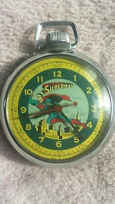 VINTAGE  SUPERMAN POCKET WATCH near mint condition, working.