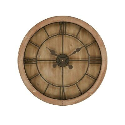 Sterling Boulder Springs Wall Clock, Maple with Bronze - 3215-002