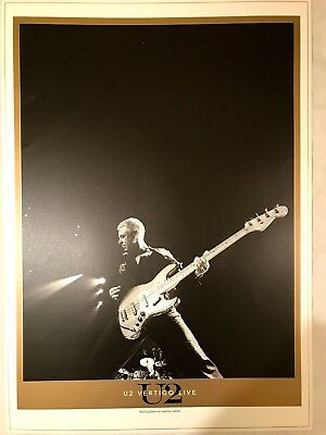U2. LITHO POSTER * VERTIGO LIVE * 970mm x 690mm * PRINTED ON LUXURY ART BOARD