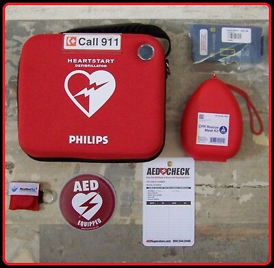 Philips HeartStart OnSite NEW Condition AED Defibrillator 2018 Battery M5066A