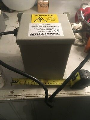 Carroll And Meynell 3phase Encased  Transformer 415 -240 drop