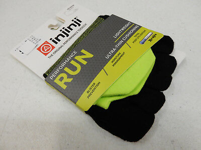 Injinji Toe Socks Run Lightweight No Show Grasshopper Size M