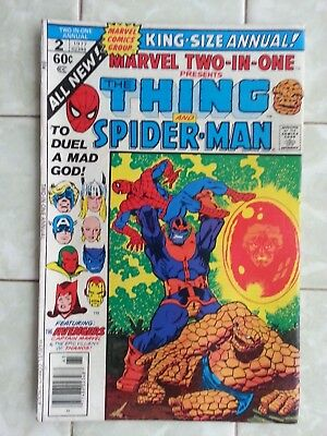 Marvel Two-in-One Annual # 2 Spider-man / Thanos / Avengers / Warlock