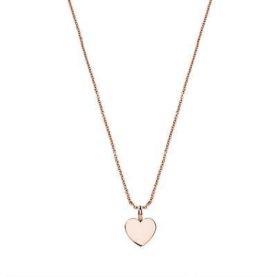 TOUS 18k Vermeil Rose Gold Plated Heart Necklace