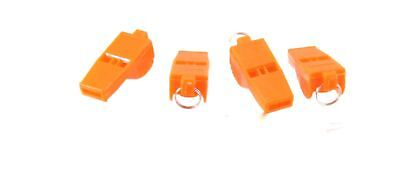 Orange Whistle Lanyard Referee Lifeguard Rugby Football Coach Shooting