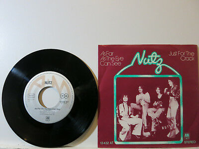 """Nutz - As far as the Eye can see / Just for the Crack 7"""" 1974 A&M D PicCvr NMint"""