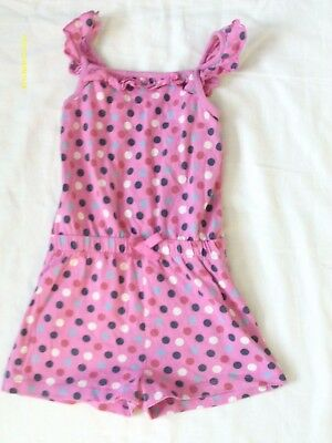 girl clothes george pink playsuit spot design age 2-3