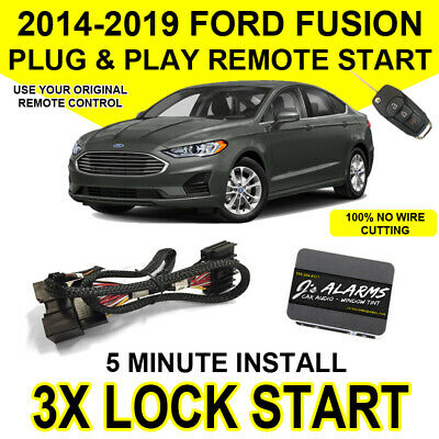 2014-2017 Ford Fusion Remote Start Plug and Play Easy Install Truck 3X Lock