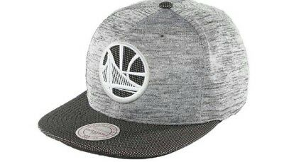 new product 6fc7b 0c723 Golden State Warriors Mitchell   Ness NBA Space Knit Snapback Cap Hat!