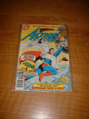 ACTION COMICS 484. VFN COND. JUNE 1978. SUPERMAN. 40th ANNIVERSARY ISSUE